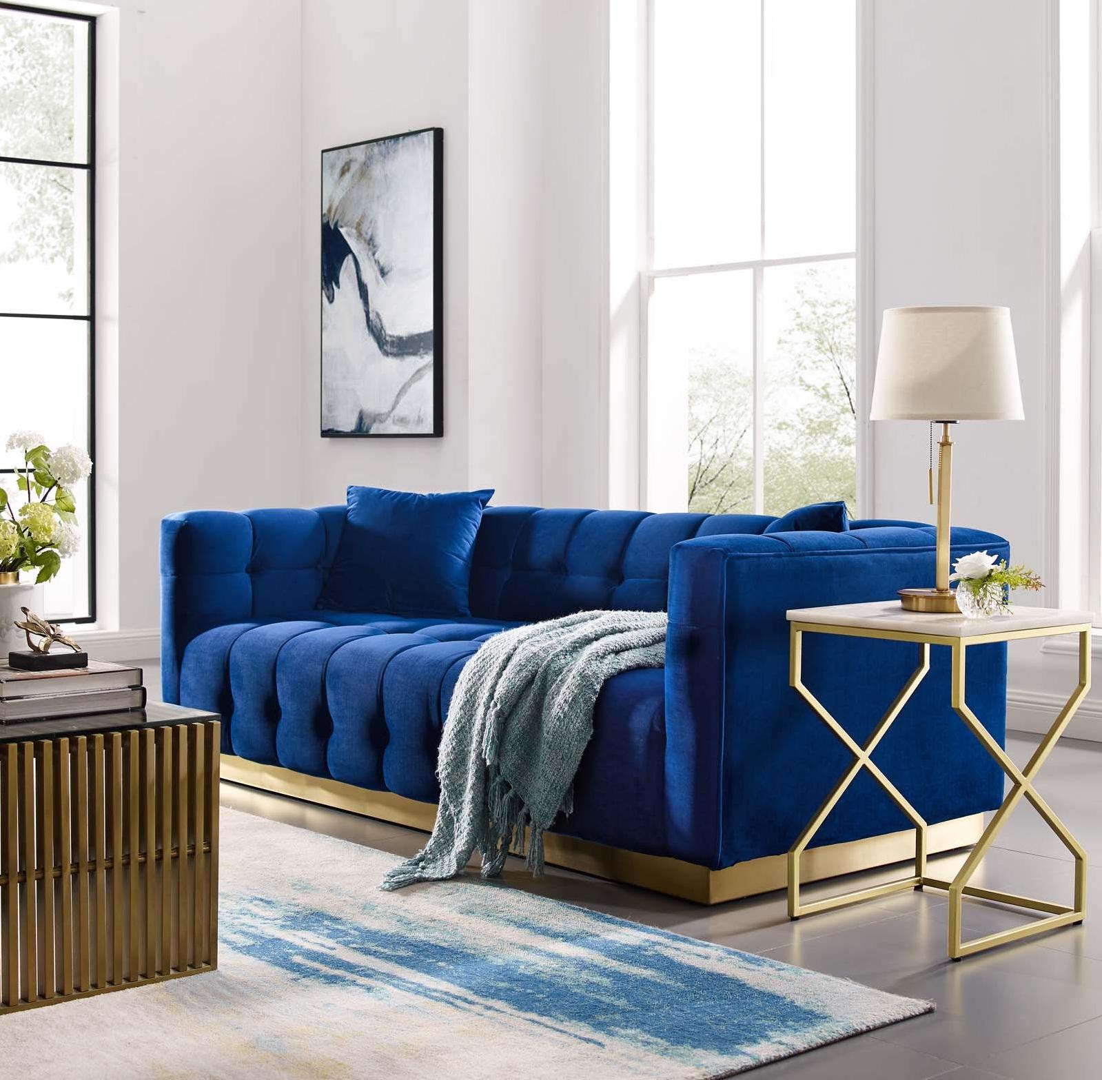 Royal Blue Sofa and Cushion Ideas 2021