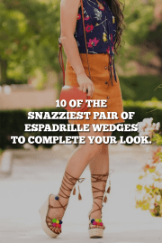 10 Of The Snazziest Pair Of Espadrille Wedges To Complete Your Look