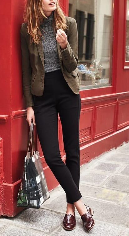 how to style tassel loafer with semi formal outfit