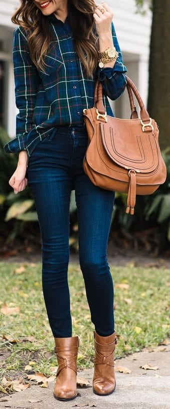 style ankle length boots with shirts