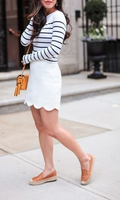 style espadrilles with mini skirts