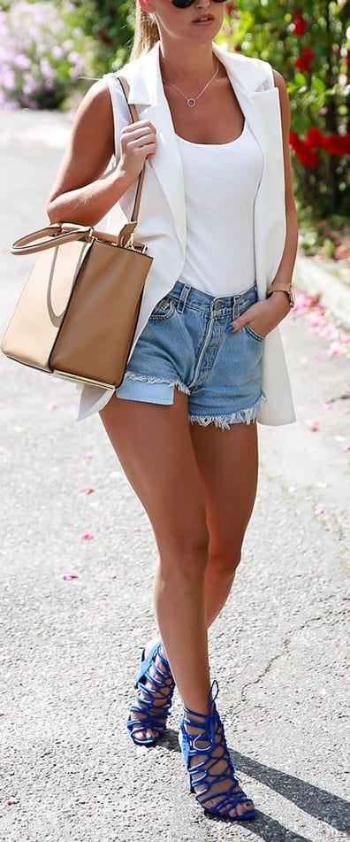 style sandals with shorts