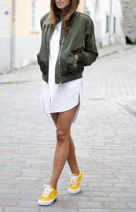 style sneakers with jackets