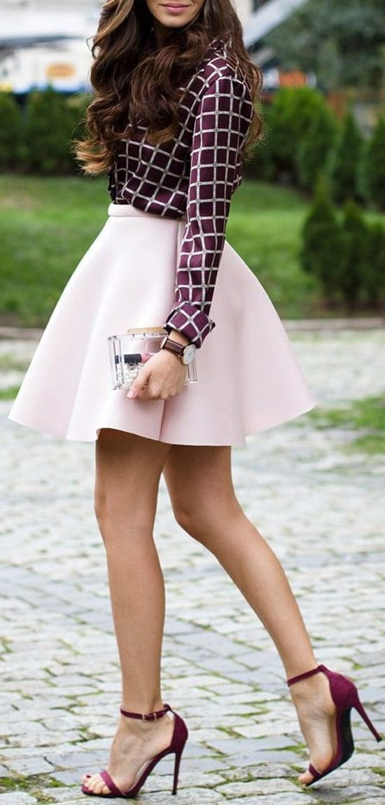 style stilesttos heels with mini skirts