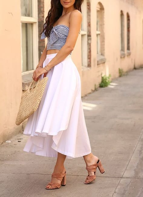 style your footwear with crop tops