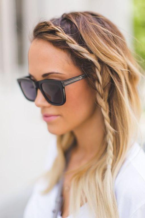 braided thin hair