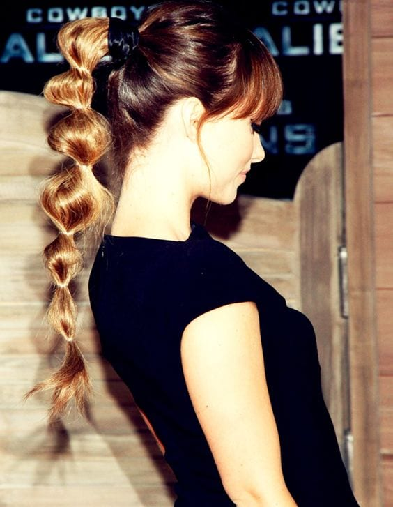 bubble ponytail perfect
