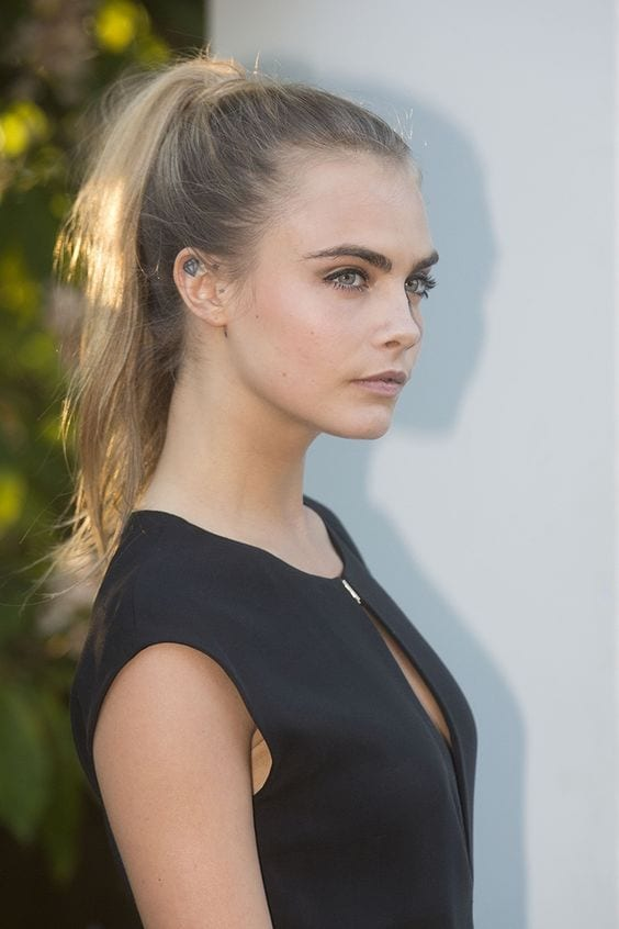 cara's high ponytail
