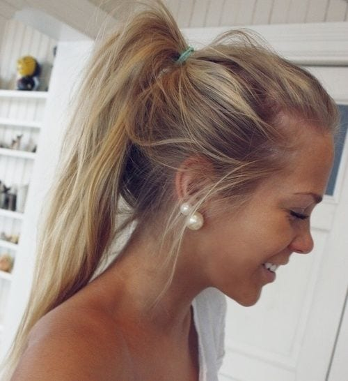date night messy ponytail