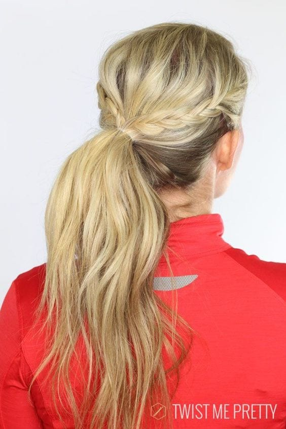 double side high pony tail