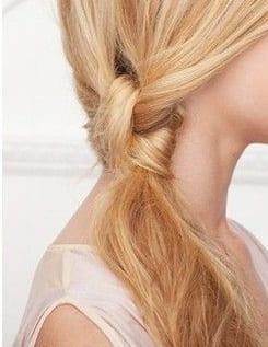double sided ponytail medium hair