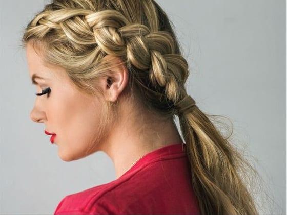 dutch braid blonde hair