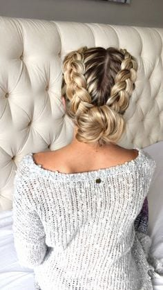 dutch braid bun