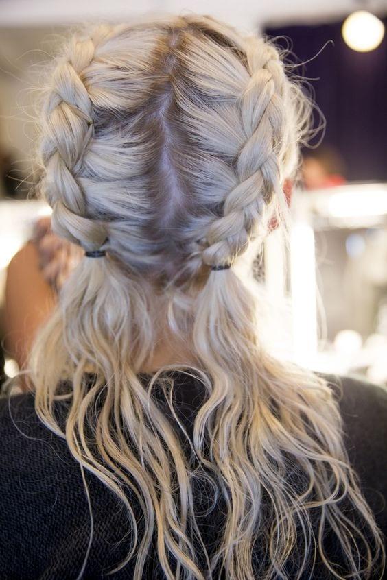dutch braid grey pigtails