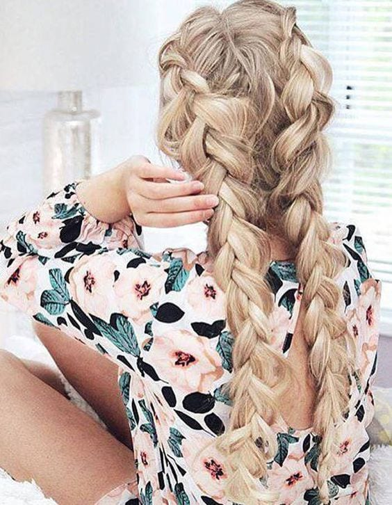 dutch braid thick hair
