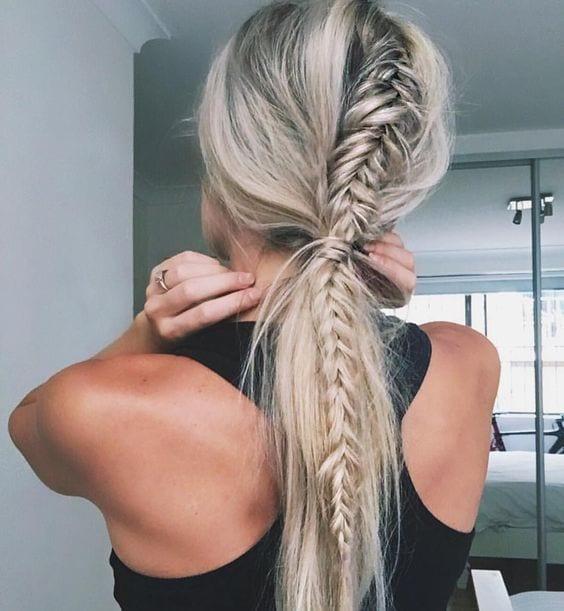 fishtail braid ponytail