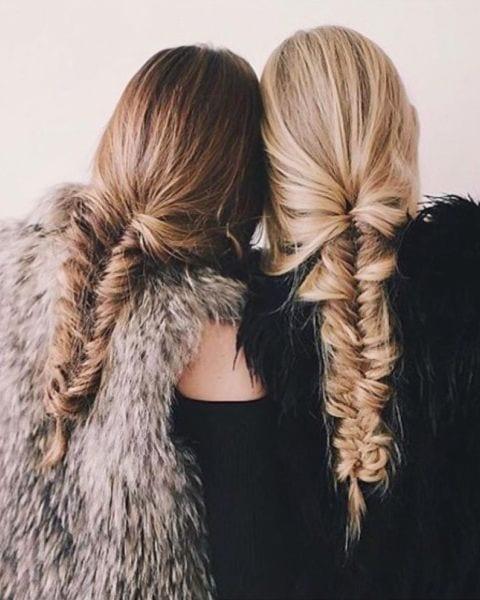 fishtail braid thick hair