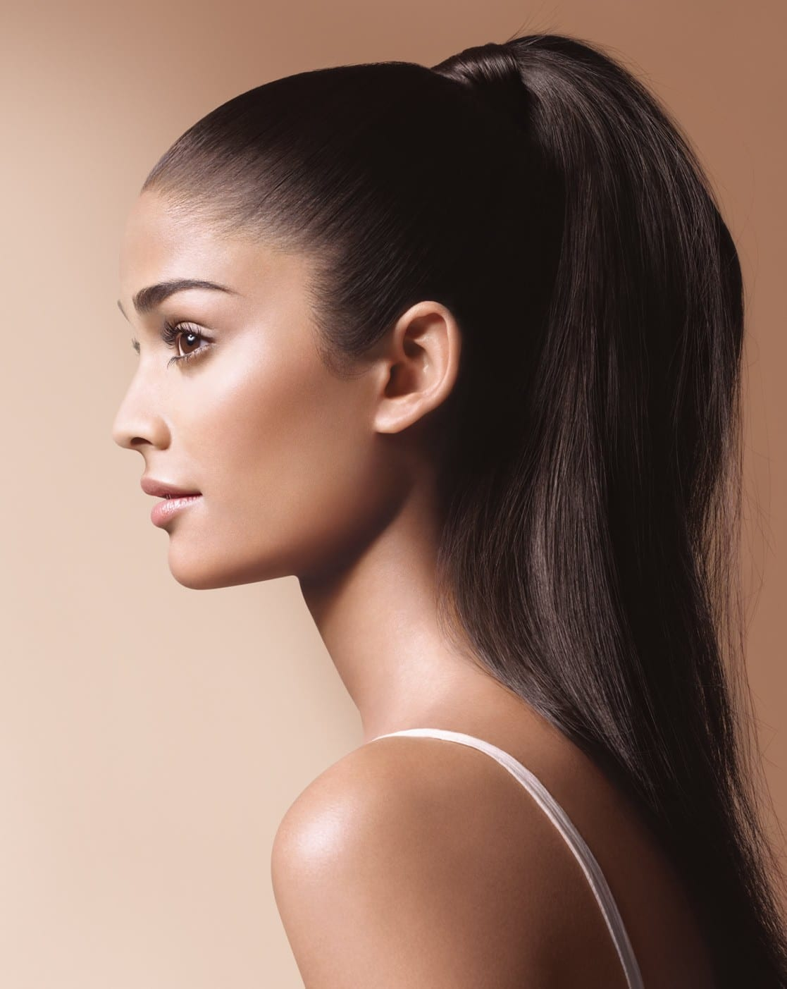 high ponytail sleek