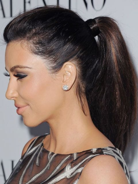 kim kardasian's ponytail