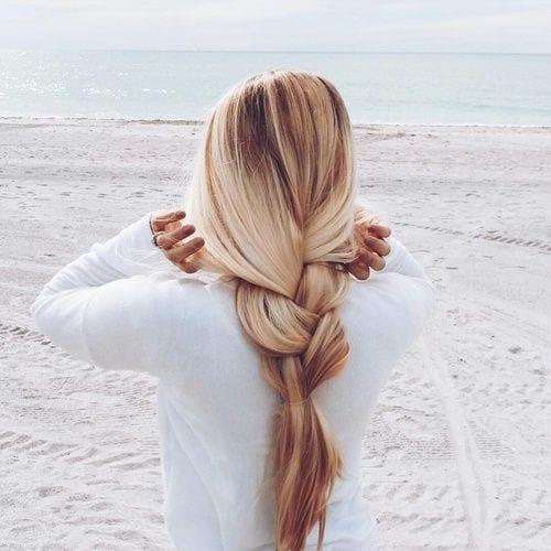 loosely braided hair