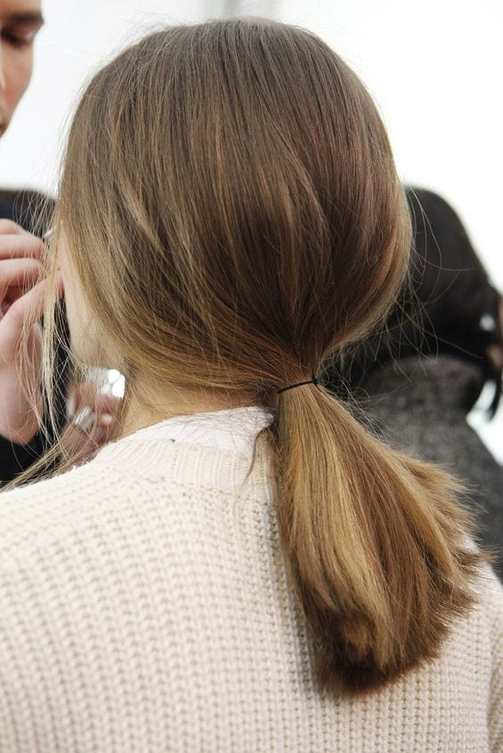 low ponytail short