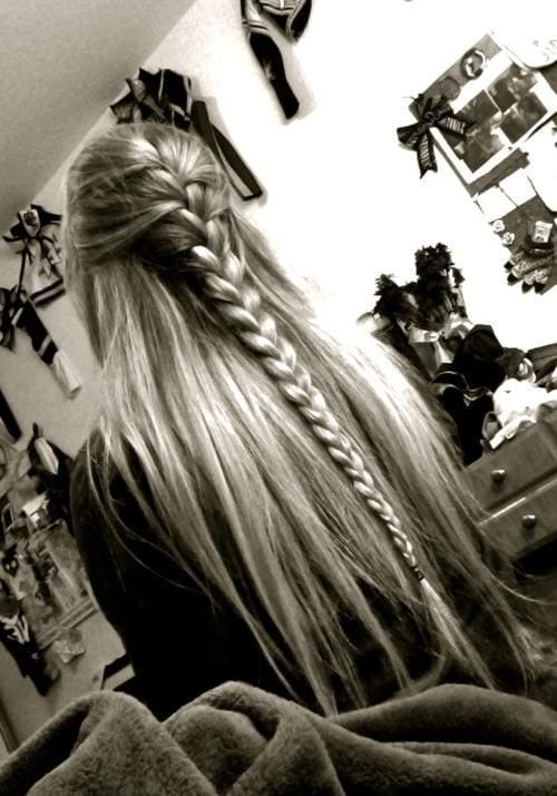 simple braid half done