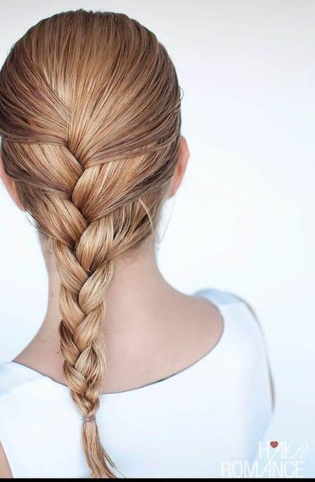 simple braided wet look