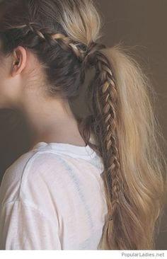 simply braided ponytail