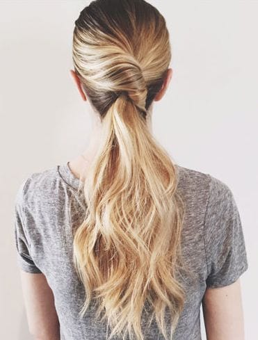 twisted pony blonde hair