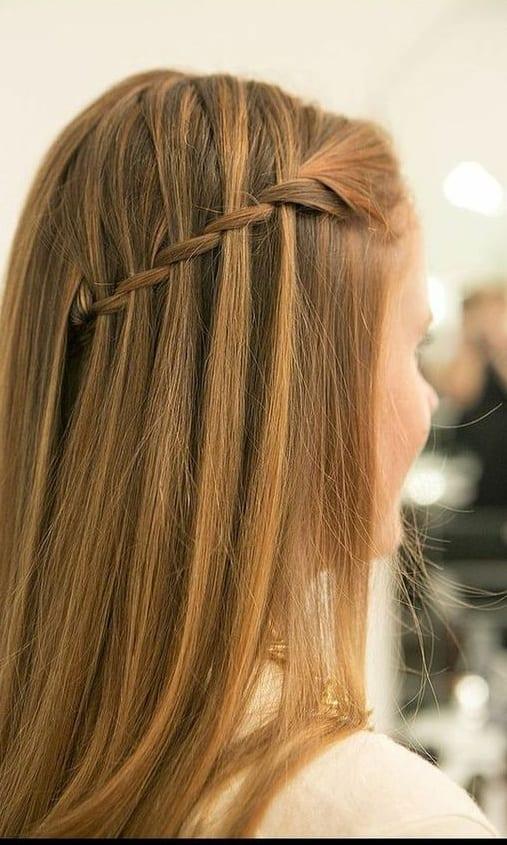 waterfall braid brown hair