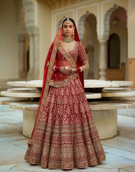 Red Lehenga for Wedding Ceremony
