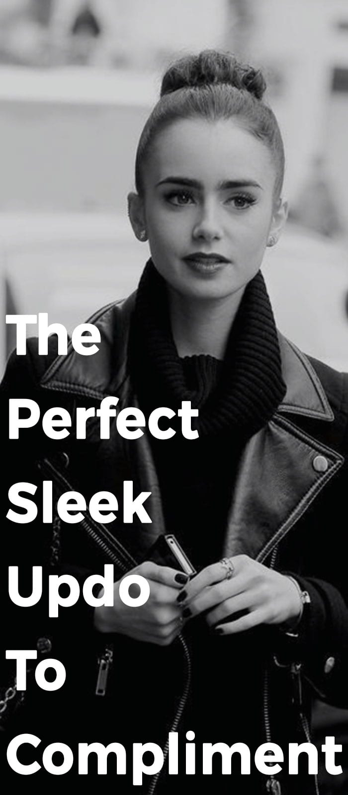 The Perfect Sleek Updo To Compliment