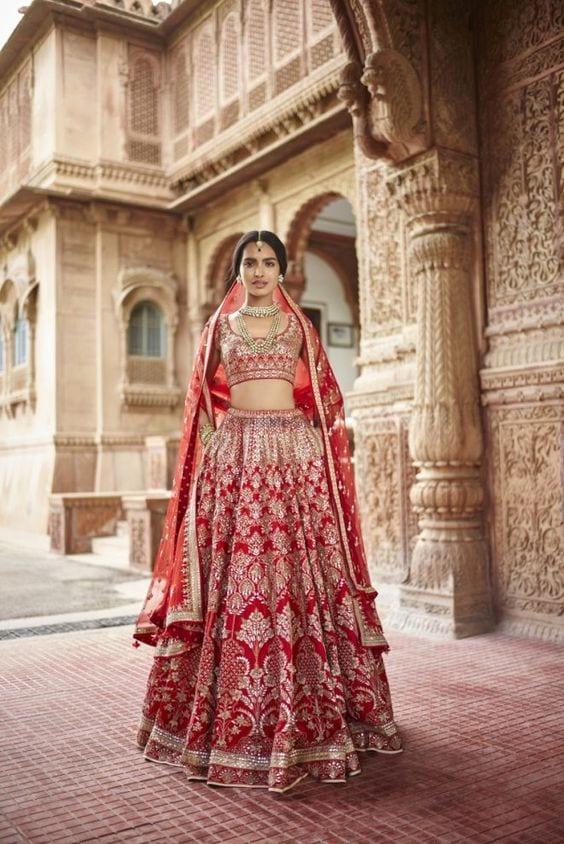 Wedding Ceremony in red Lehenga