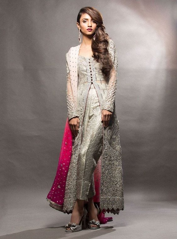 cigarette Pants and Middle cut kurti for engagement