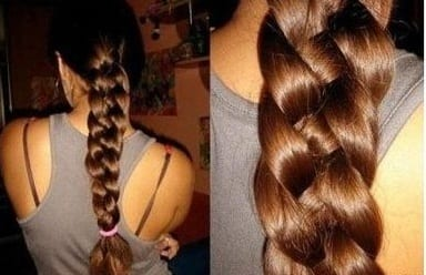 four strand braid thick hair