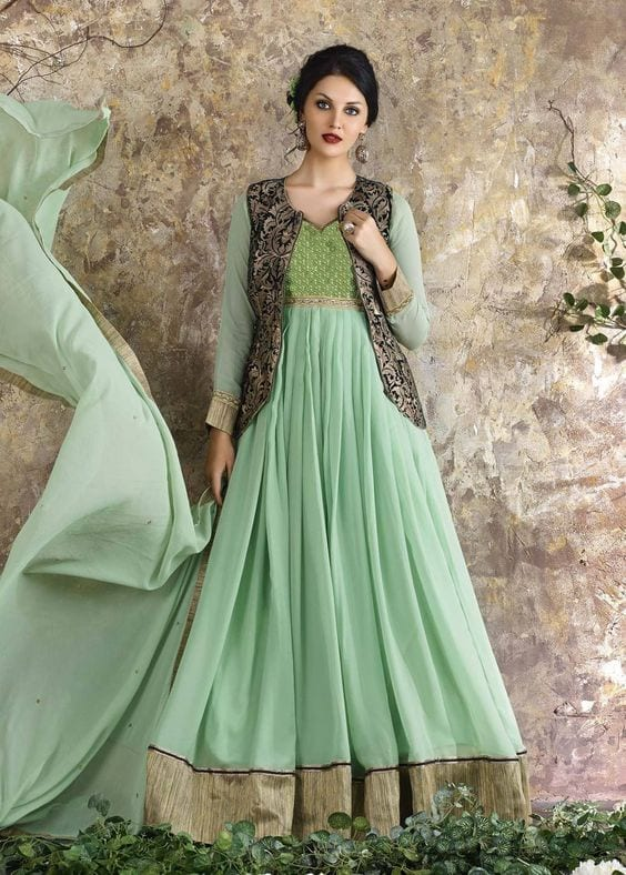 green gown for mehendi
