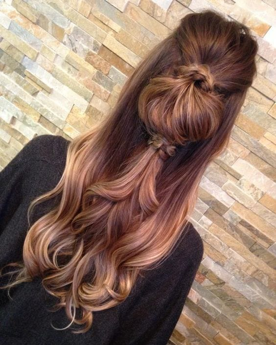 half up do ponytail