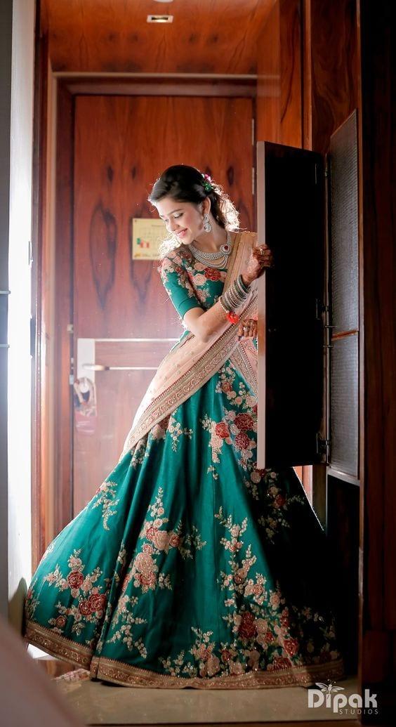 latest lehenga saree design