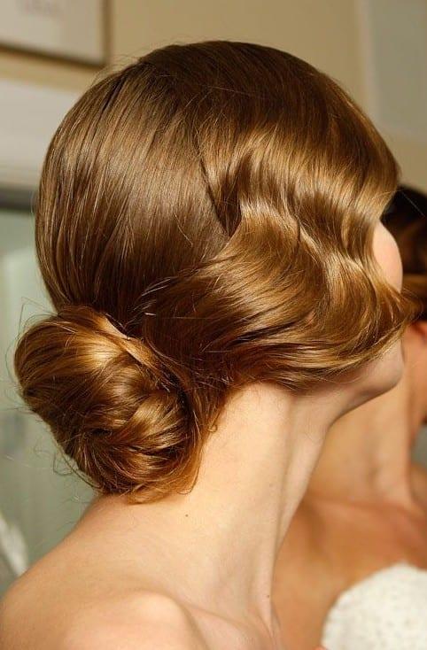 low chignon weavy style
