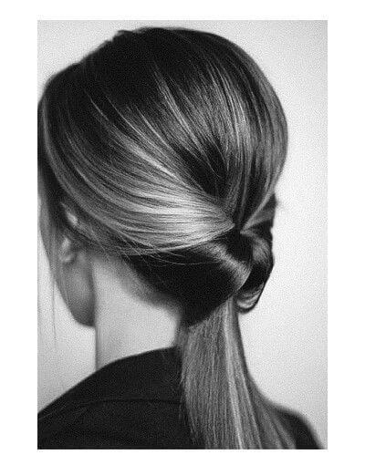 low polished ponytail