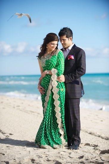 saree for pre wedding photo shoot