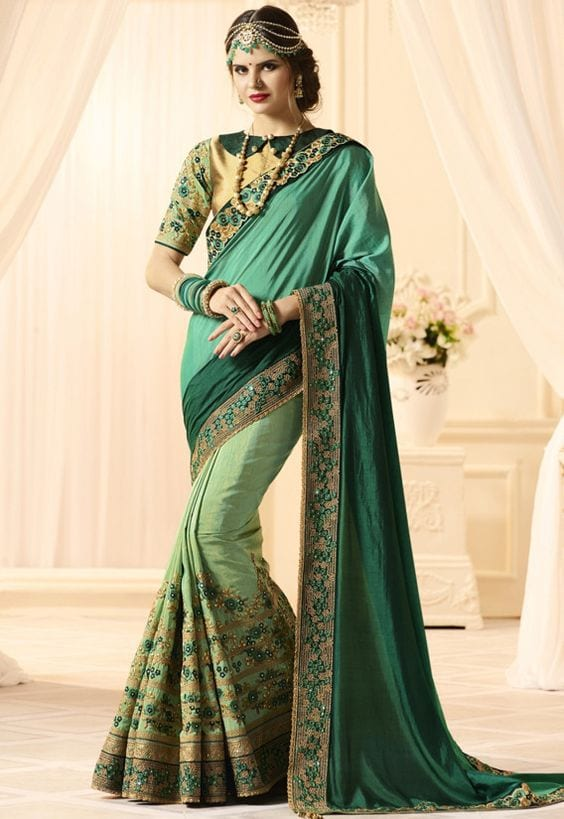 saree for mehendi