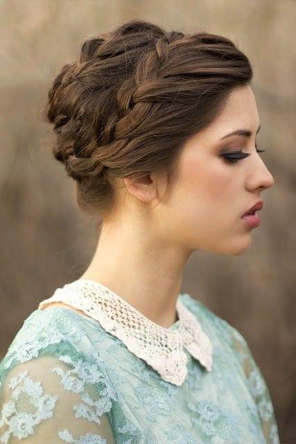 sleek milkmaid braid