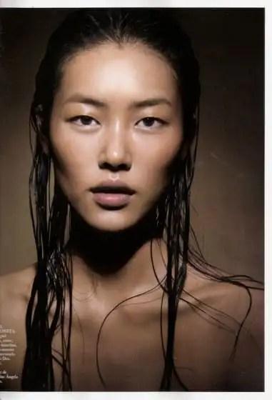 wet hair look for asian women