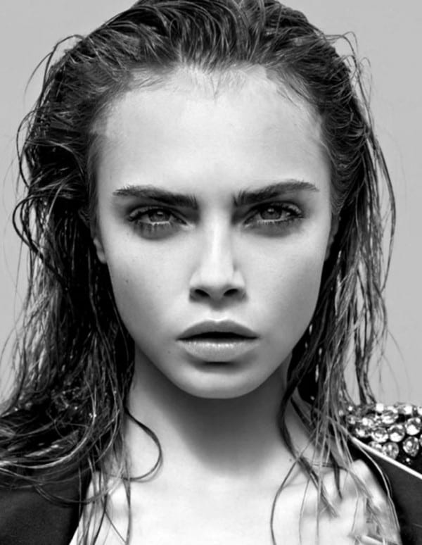 wet hair look on cara