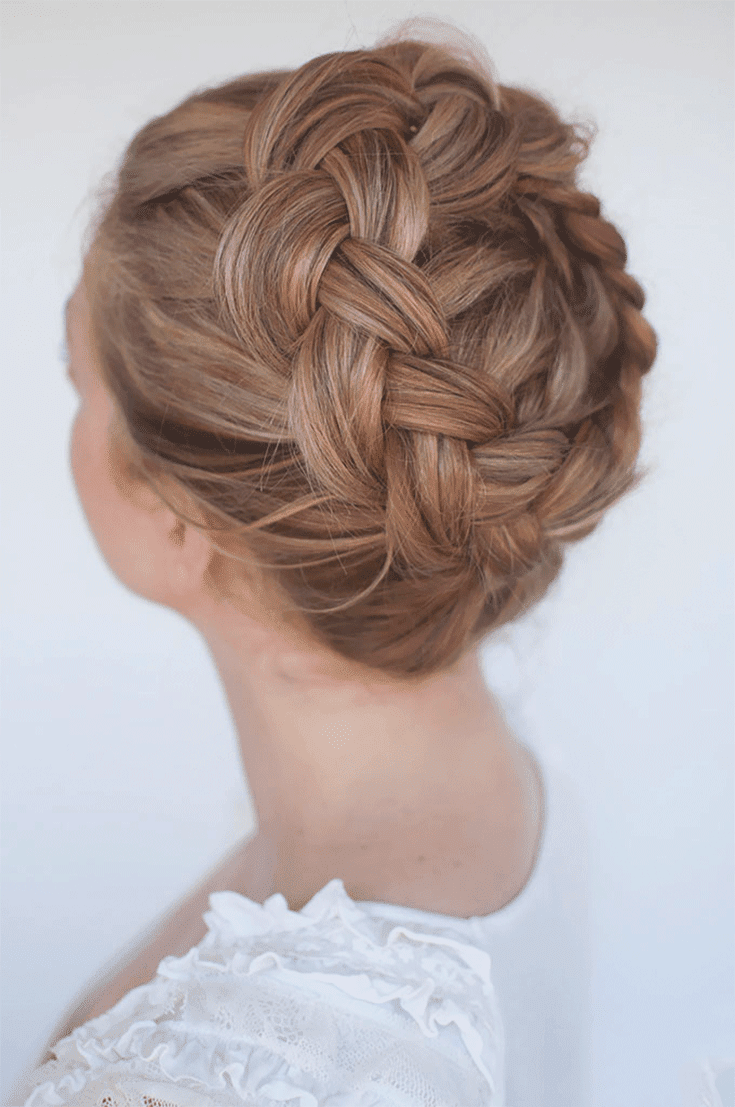 crown braid updos