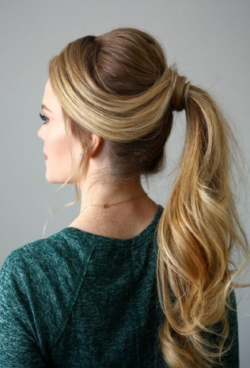 double side ponytails