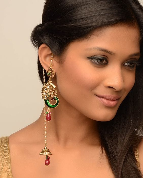 kundan kashmiri earring - Theunstitchd Women's Fashion Blog