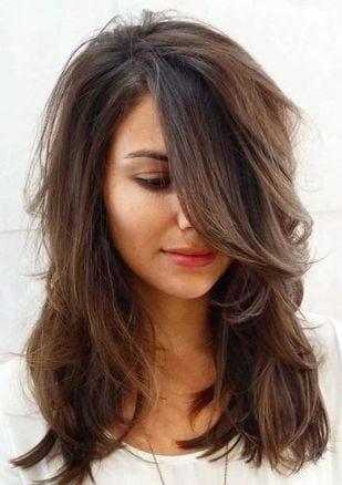 layered hair medium