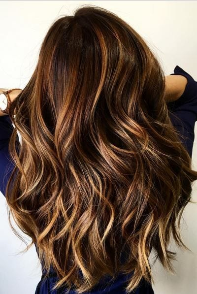 layered highlights hair